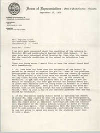 Letter from McKinley Washington, Jr. to Septima P. Clark, September 17, 1976