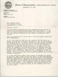 Letter from McKinley Washington, Jr. to Septima P. Clark, September 17, 1976
