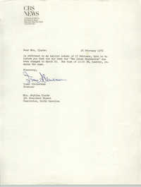 Letter from Isaac Kleinerman to Septima Clark, February 26, 1976
