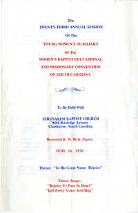 The Twenty-Third Annual Session of the Young Women's Auxiliary Program