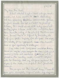 Letter from Tony L. Richardson to Septima P. Clark, January 27, 1976