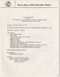 Program and Agenda for the 1977 Meeting of the National Caucus of Black School Board Members