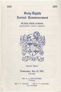 Twenty-Eighth Annual Commencement Exercises for Burke High School, May 31, 1978
