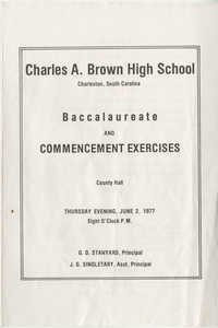 Charles A. Brown High School Commencement Exercises, June 2, 1977