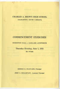 Charles A. Brown High School Commencement Exercises, June 1, 1978
