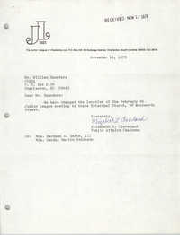 Letter from Elizabeth Cleveland to William Saunders, November 14, 1978