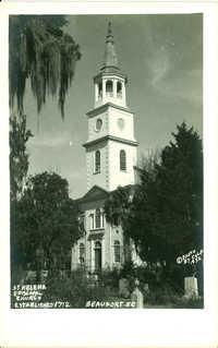 St. Helena Episcopal Church Established 1712. Beaufort, S.C.