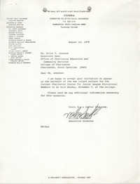 Letter from William Saunders to Erica P. Lesesne, August 14, 1979