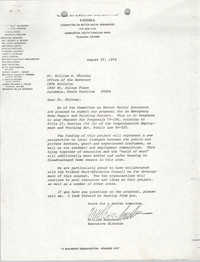 Letter from William Saunders to William B. Whitney, August 27, 1979