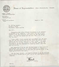 Letter from Herbert U. Fielding to William Saunders, August 4, 1972