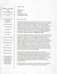Letter from Virginia Friedman and John Reynolds to William Saunders, March 8, 1999