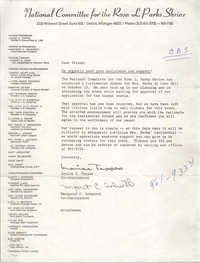 Letter from Louise C. Tappes and Margaret C. Ashworth