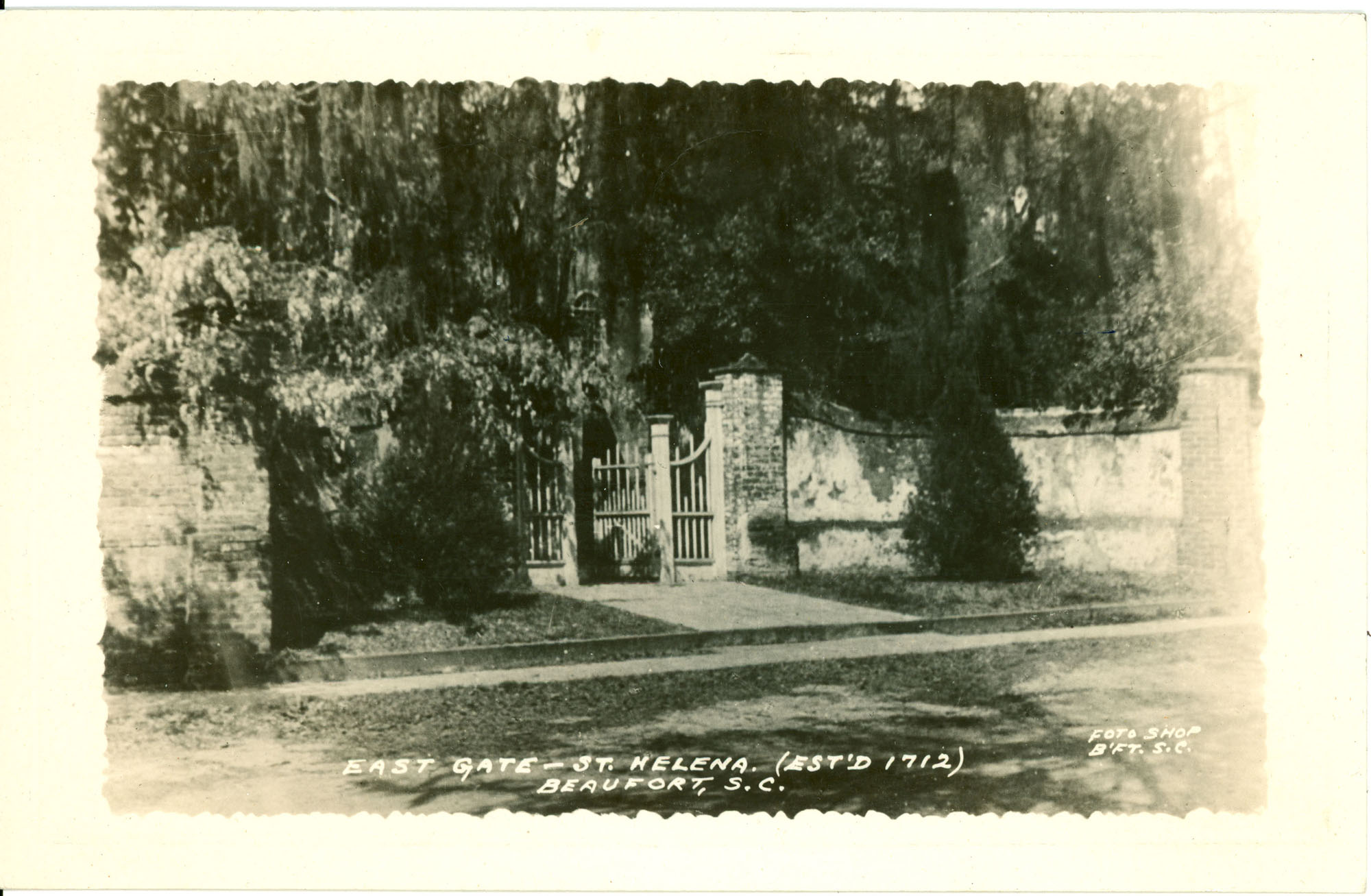 East Gate - St. Helena (Established 1712)