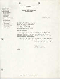 Letter from William Saunders to James H. Poisant, July 13, 1978