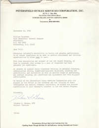 Letter from Dolores S. Greene to William Saunders, September 10, 1982