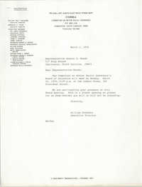Letter from William Saunders to Robert R. Woods, March 1, 1979