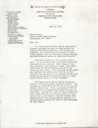 Letter from William Saunders, May 29, 1979