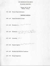 Charleston Branch NAACP 1993 Freedom Fund Drive Meeting Agenda