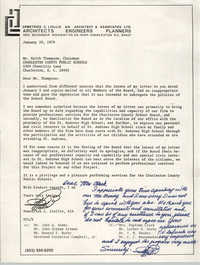 Letter from Demetrios C. Liollio to Keith Thompson, January 20, 1978