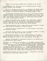 Report of Action Taken by South Carolina Retired Educators Association Board in Meeting, July 24, 1973