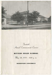 Twentieth Annual Commencement Exercises for Rivers High School