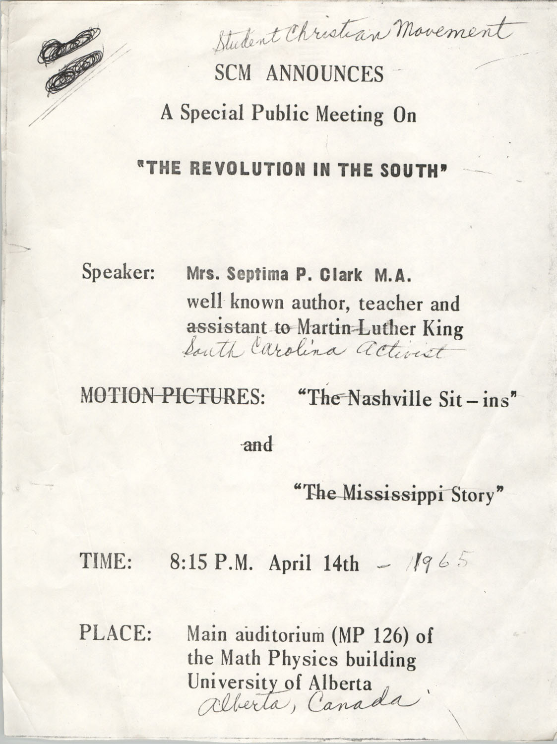 Flyer for