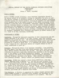 Annual Report of the South Carolina Retired Educators Association, 1972-1973