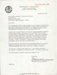 Letter from Marianna W. Davis to William Saunders, January 30, 1979
