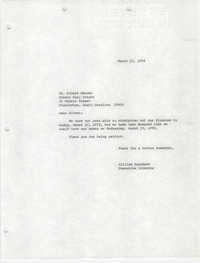 Letter from William Saunders to Albert Brooks, March 10, 1978