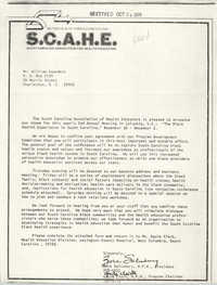 Letter from Zora Salisbury and Gayle Clark to William Saunders, October 24, 1978