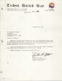 Letter from Cynthia R. Jett to William Saunders, November 14, 1980