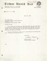 Letter from William Cooper to Peggy Watson, April 21, 1981