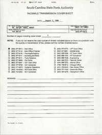 South Carolina State Ports Authority Memorandum, August 3, 1994