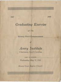 Graduating Exercise of the Seventy-Ninth Commencement of the Avery Institute, May 31, 1944
