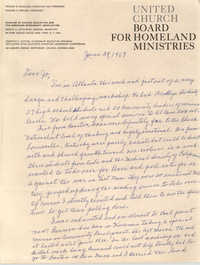 Letter from Septima P. Clark to Josephine Rider, June 29, 1967