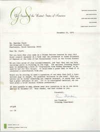 Letter from Ann Franklin to Septima P. Clark, November 23, 1976