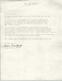 Letter from Grace Crawford to Septima P. Clark, October 2, 1976