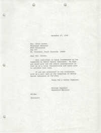 Letter from William Saunders to Chris Crosby, December 27, 1978