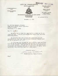 Letter from Herman Wallace to William Saunders, November 11, 1974