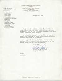 Letter from William Saunders, December 10, 1976