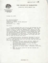 Letter to William Saunders, October 10, 1979