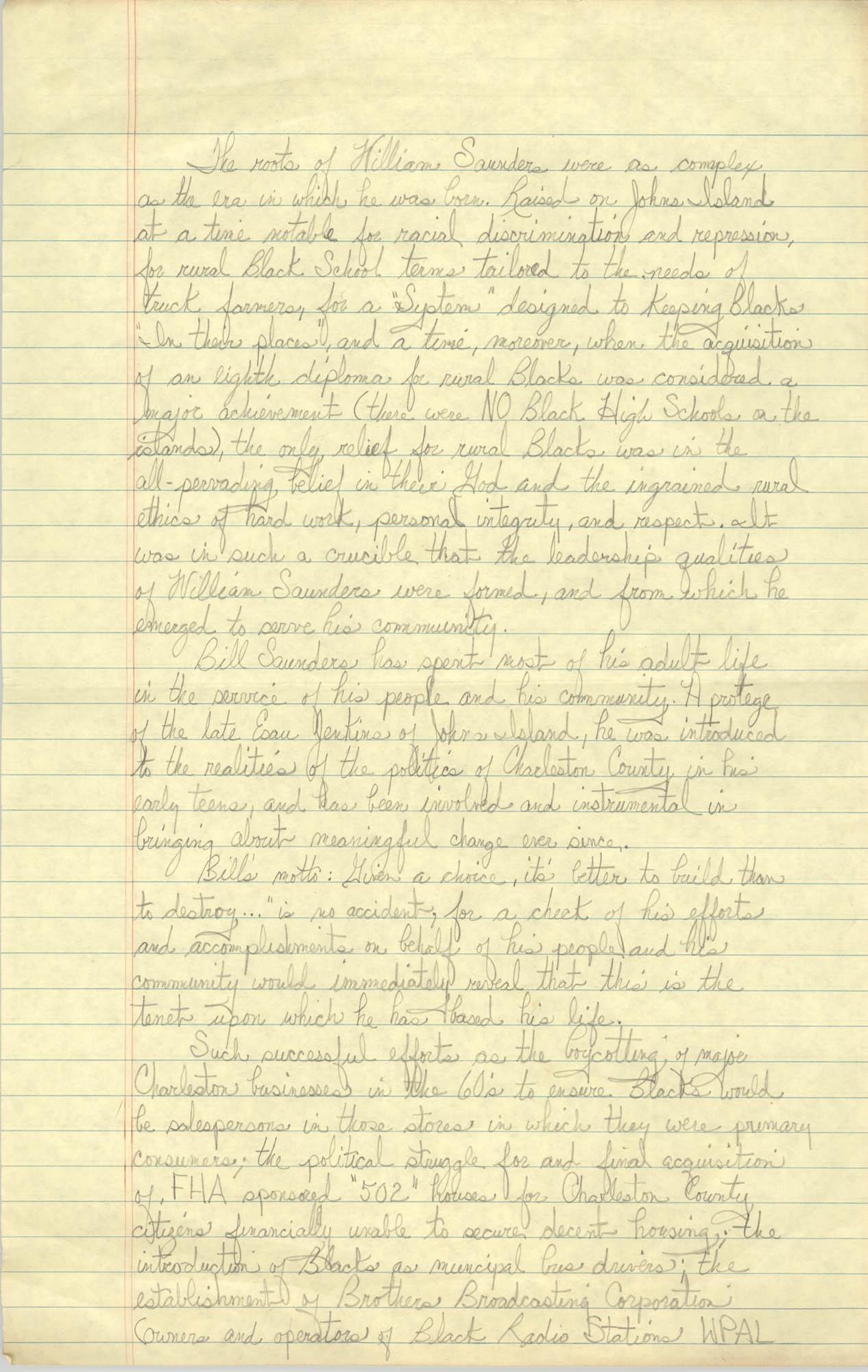 Biography of William Saunders