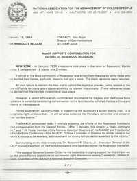 NAACP Press Release, February 19, 1994