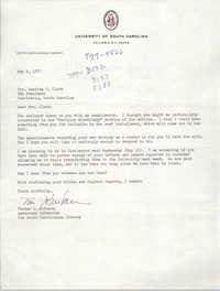 Letter from Thomas L. Johnson to Septima P. Clark, May 9, 1977