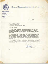 Letter from Herbert U. Fielding to Septima P. Clark, June 9, 1972