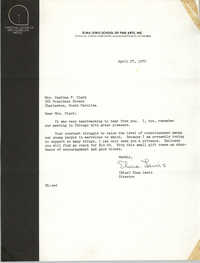 Letter from Elma Lewis to Septima P. Clark, April 27, 1972