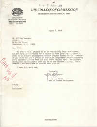Letter from Frank van Aalst to William Saunders, August 1, 1978