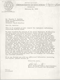 Letter from R. W. Burnette to Charles T. Ferillo, February 21, 1979