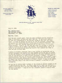 Letter from Marie Oser to Septima P. Clark, July 21, 1978