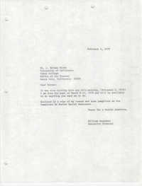 Letter from William Saunders to J. Herman Blake, February 3, 1978